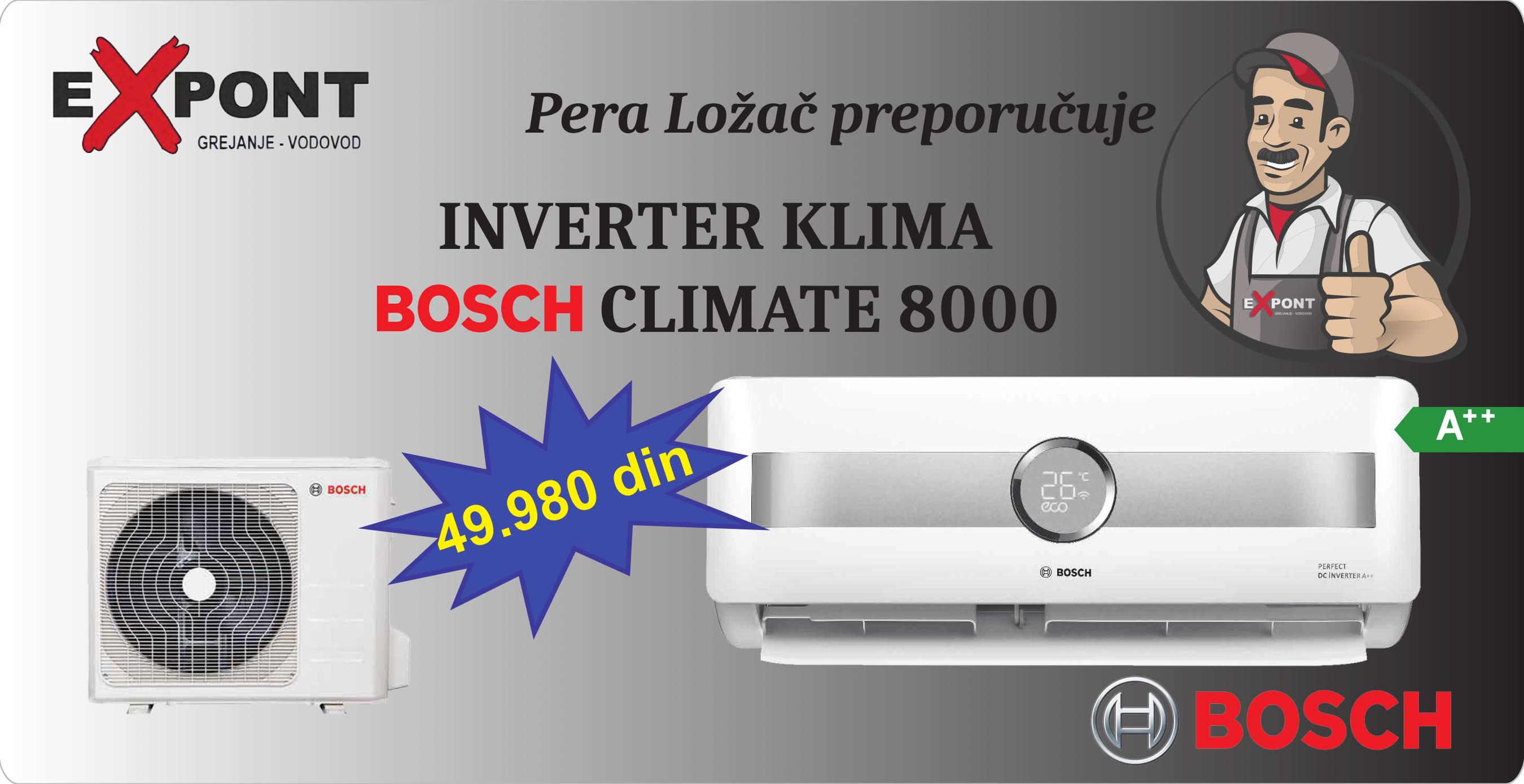 Baner Bosch klima uređaj
