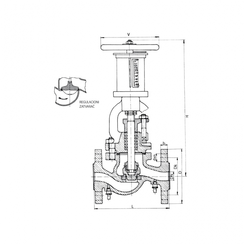 Balansni rucni ventil  MIP Cuprija