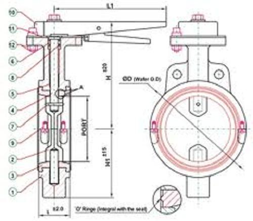 Leptir ventil  MIP Cuprija