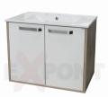 Ormar za kupatilo donji deo konzolni 61 cm LENA i lavabo SLIM 35-916